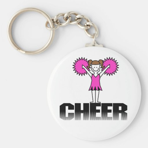 Pink Cheerleading T-shirts and Gifts Key Chain