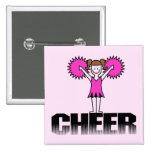 Pink Cheerleading T-shirts and Gifts Pin
