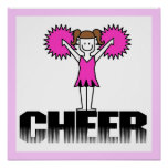 Pink Cheerleading T-shirts and Gifts Poster