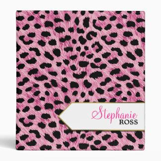 Pink Cheetah2 Personalized Binders