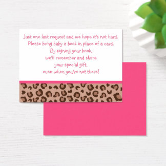 Pink Cheetah Book Request Cards
