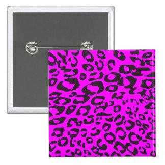 pink cheetah button