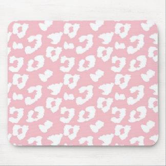 Pink Cheetah Leopard Print Mouse Pad