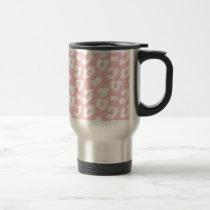 Pink Cheetah Leopard Print Travel Mug