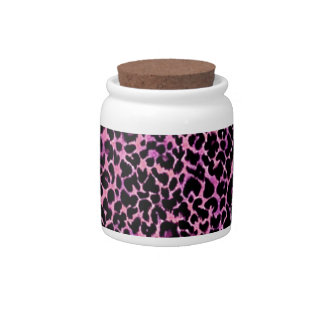 Pink Cheetah Pattern Candy Dishes