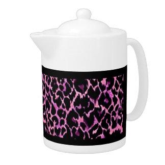 Pink Cheetah Pattern Teapot
