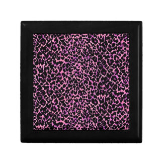 Pink Cheetah Pattern Trinket Box