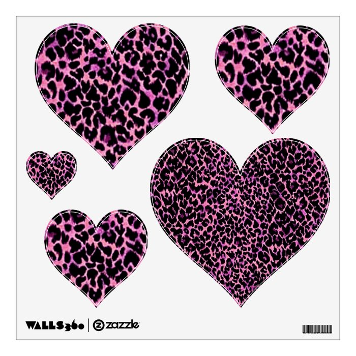 Pink Cheetah Pattern Wall Sticker