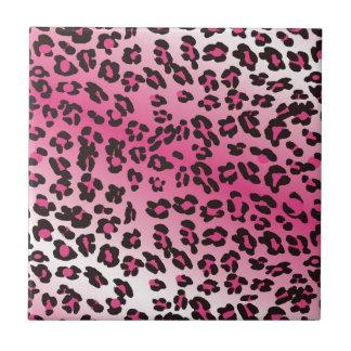 Pink Cheetah Print Ceramic Tile