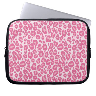 Pink Cheetah Print Computer Sleeves