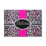 Pink Cheetah Print Diamond Monogram Cover For iPad Mini