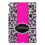 Pink Cheetah Print Diamond Monogram Case For The iPad Mini