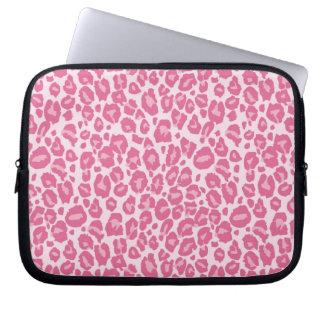 Pink Cheetah Print Laptop Sleeve