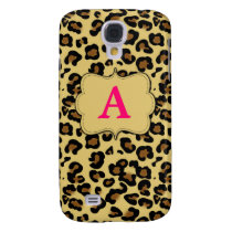 Pink Cheetah Print Monogram Phone Case