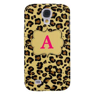 Pink Cheetah Print Monogram Phone Case