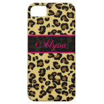 Pink Cheetah Print Personalized Phone Case iPhone 5/5S Cases