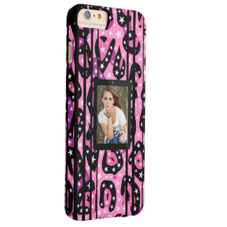 Pink Cheetah Stars Replace Image Barely There iPhone 6 Plus Case
