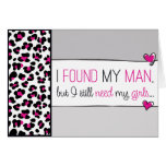 Pink Cheetah Will you be my Flower Girl? Card