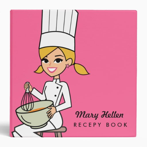 Pink Chef Themed Recipe Binder