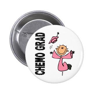 Pink CHEMO GRAD 1 (Breast Cancer) 2 Inch Round Button