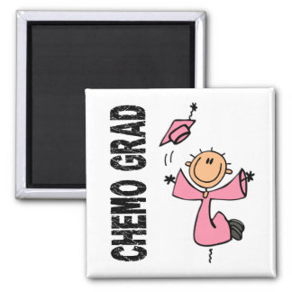 Pink CHEMO GRAD 1 (Breast Cancer) 2 Inch Square Magnet