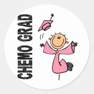 Pink CHEMO GRAD 1 (Breast Cancer) Classic Round Sticker