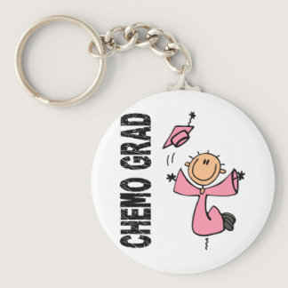 Pink CHEMO GRAD 1 (Breast Cancer) Keychain