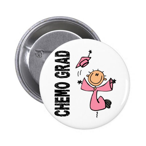 Pink CHEMO GRAD 1 (Breast Cancer) Pins