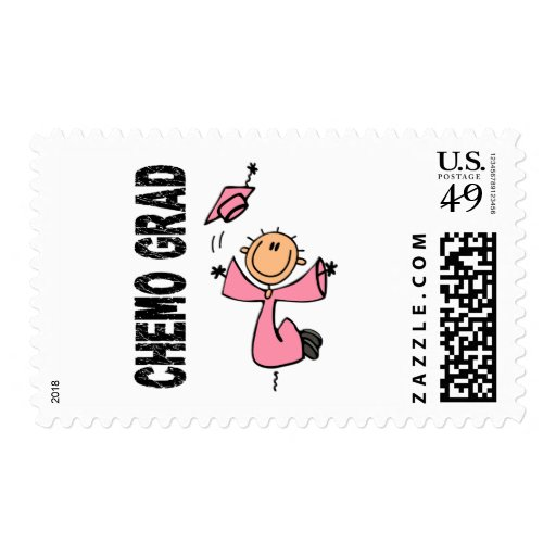 Pink CHEMO GRAD 1 (Breast Cancer) Postage