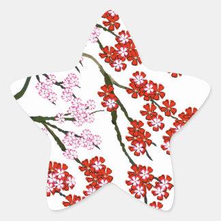 Pink Cherry Blossom 26, Tony Fernandes Star Sticker