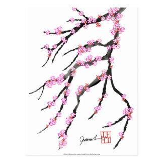 Pink Cherry Blossom 31, Tony Fernandes Postcard