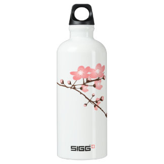 Pink Cherry Blossom  Aluminum 24oz Aluminum Water Bottle