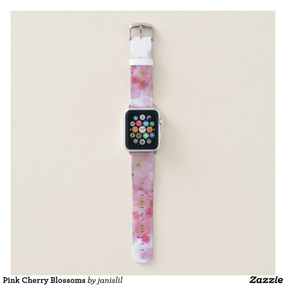 Pink Cherry Blossom Apple Watch Band