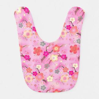 Pink Cherry Blossom baby bib, sakura bib