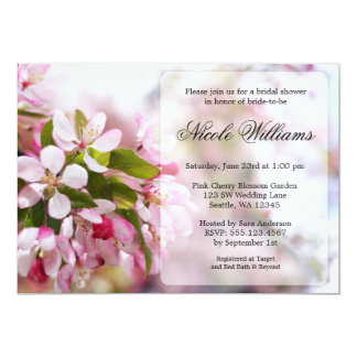 Pink Cherry Blossom Bridal Shower Card