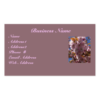 Pink Cherry Blossom Business Card