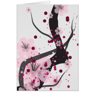 Pink Cherry Blossom Card