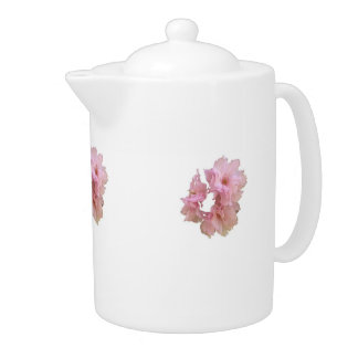 Pink Cherry Blossom Cluster Teapot