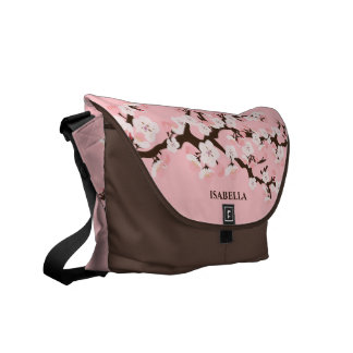 Pink Cherry Blossom Courier Bag