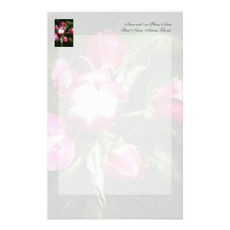 Pink Cherry Blossom Customized Stationery