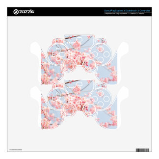 Pink Cherry Blossom Decal For PS3 Controller