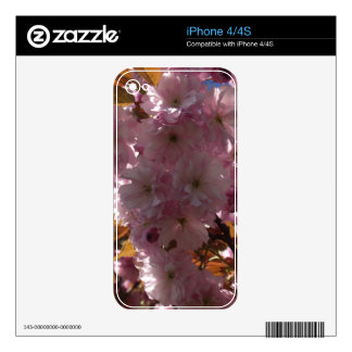 Pink Cherry Blossom Floral iPhone Skin Skins For iPhone 4S