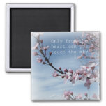 Pink Cherry Blossom Flowering Tree Magnet
