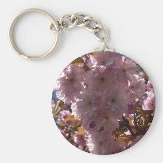 Pink Cherry Blossom Gifts Basic Round Button Keychain