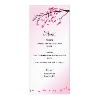 Pink Cherry Blossom | Menu Card Rack Card Template