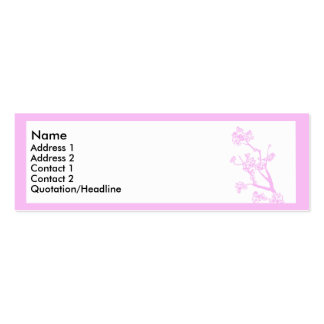 Pink cherry blossom mini business card