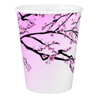 Pink Cherry Blossom Paper Cup