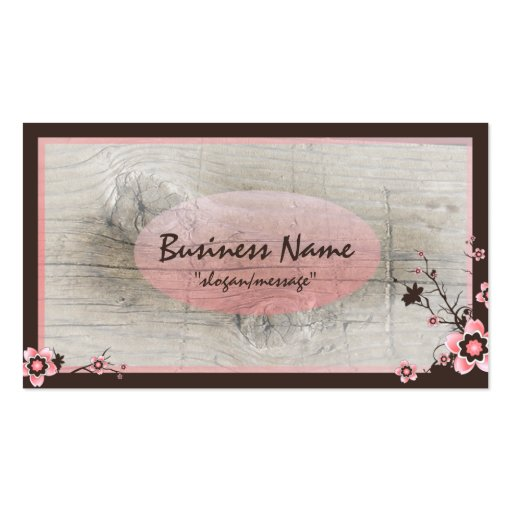 Pink Cherry Blossom Professional Business Cards