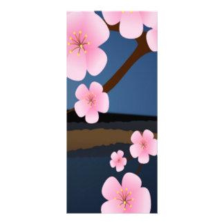 Pink Cherry Blossom Rack Card