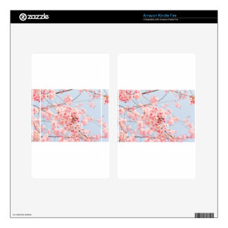 Pink Cherry Blossom Skins For Kindle Fire